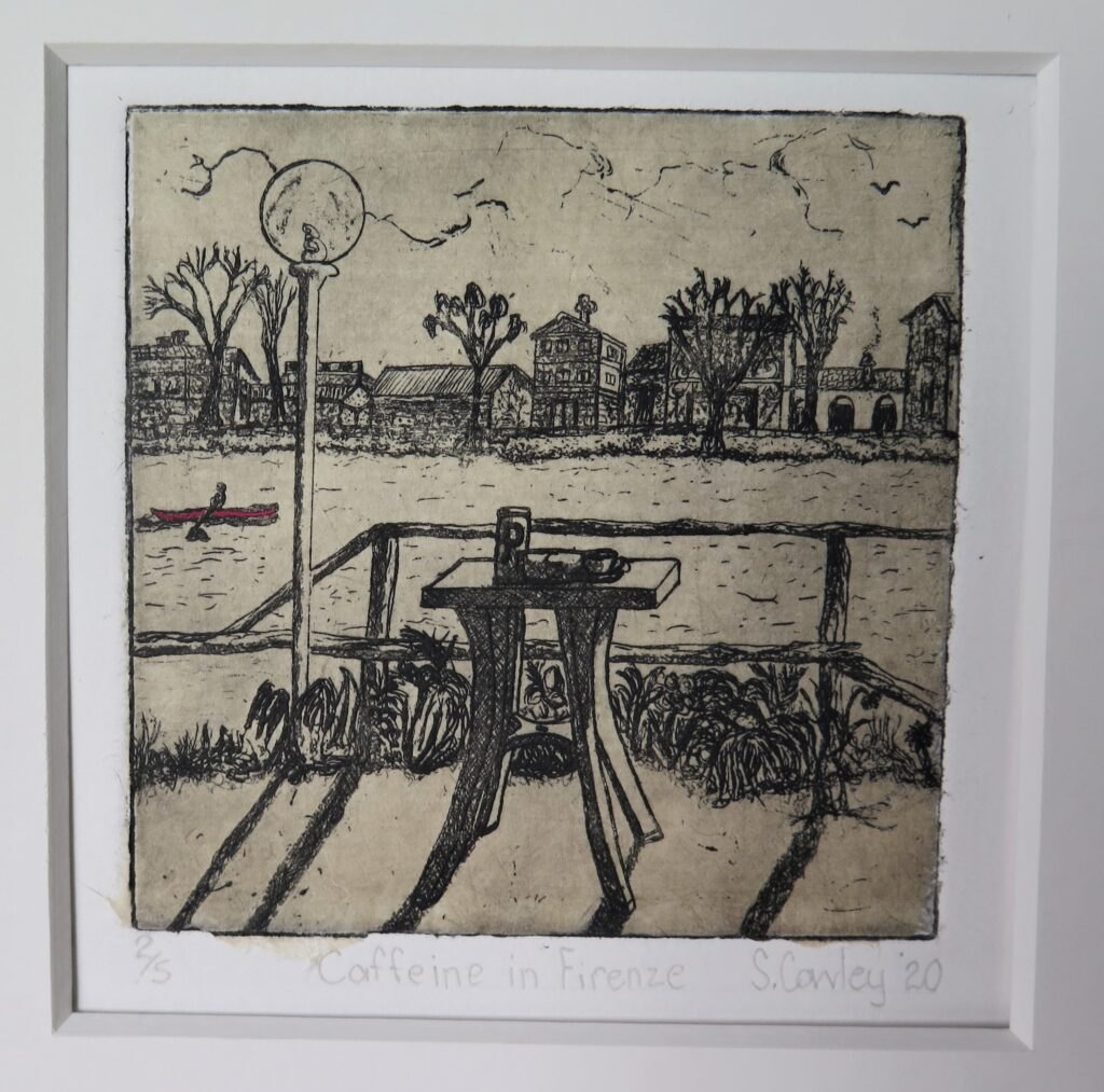 Sarah Cowley artist - 8th International Miniature Print Biennale Exhibition 2020