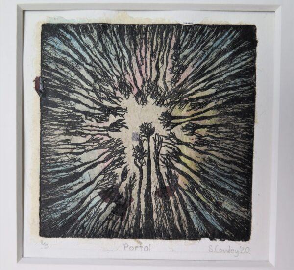 Sarah Cowley artist - 8th International Miniature Print Biennale Exhibition 2020