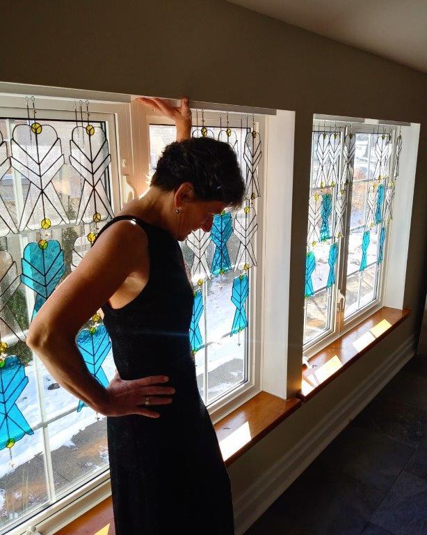 Sarah Cowley - Artist - Rhythm in Blue